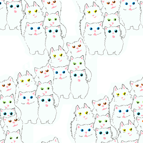 Bumble Kitties fabric by eclectic_house on Spoonflower - custom fabric