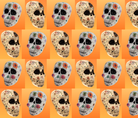 Papier Mache Skulls fabric by boneyfied on Spoonflower - custom fabric