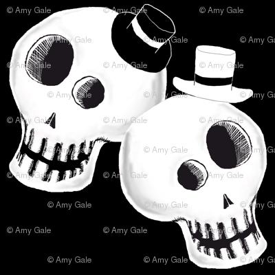 Two Dapper Skulls