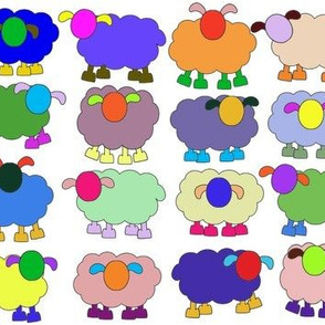 multicolored sheep