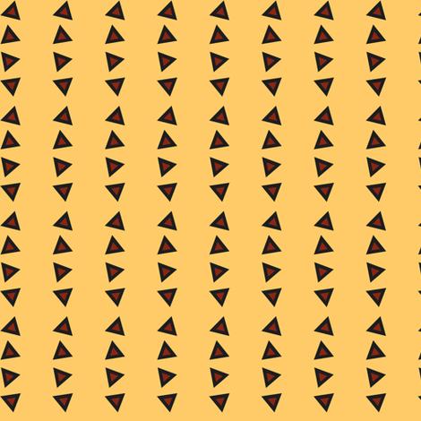 Pinstripe Triangles on Faded Yellow fabric by rockfashfab on Spoonflower - custom fabric