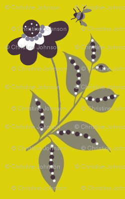 midsummer  floral/ yellow