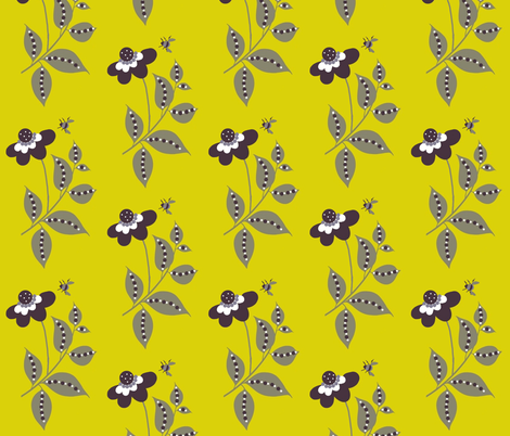 midsummer  floral/ yellow fabric by paragonstudios on Spoonflower - custom fabric