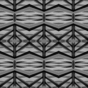 Geometric Abstract 1 (B/W)