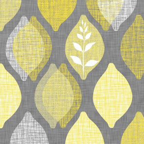 Amalfi Lemon Linen.Graphite