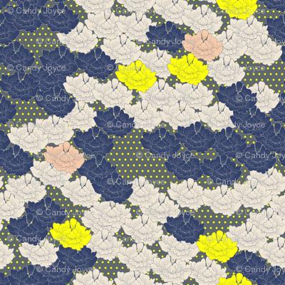 Stitch Flowers Yellow Polkas