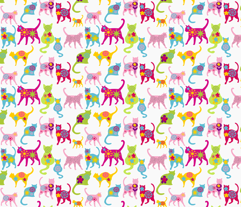 fancy cats fabric by lil_creatures on Spoonflower - custom fabric