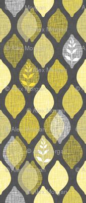 Amalfi Lemon Linen.Charcoal