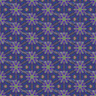 Purple Digital Flower © Gingezel™ 2013