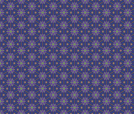 Purple Digital Flower © Gingezel™ 2013 fabric by gingezel on Spoonflower - custom fabric