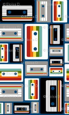 Cassettes on Royal Blue
