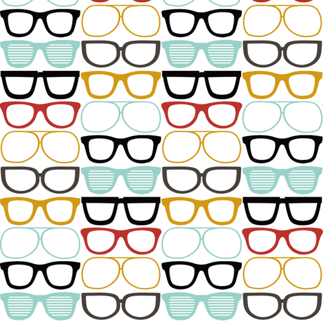 Geeky Glasses fabric by natitys on Spoonflower - custom fabric
