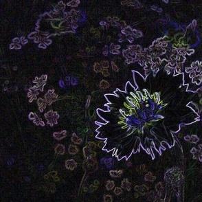 psychodelic cornflower