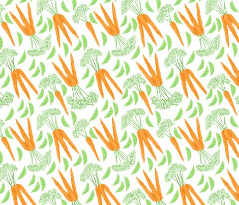 Peas and Carrots fabric by vinpauld on Spoonflower - custom fabric