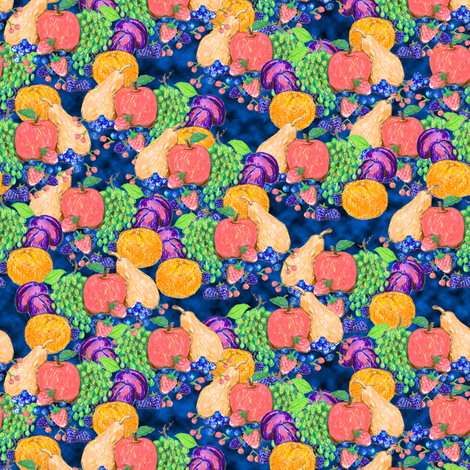Fruit Sampler fabric by eclectic_house on Spoonflower - custom fabric