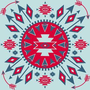 Navajo Arrows - lt. Aqua background
