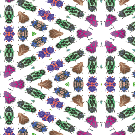 Kaleidoscope Bugs 1 fabric by animotaxis on Spoonflower - custom fabric