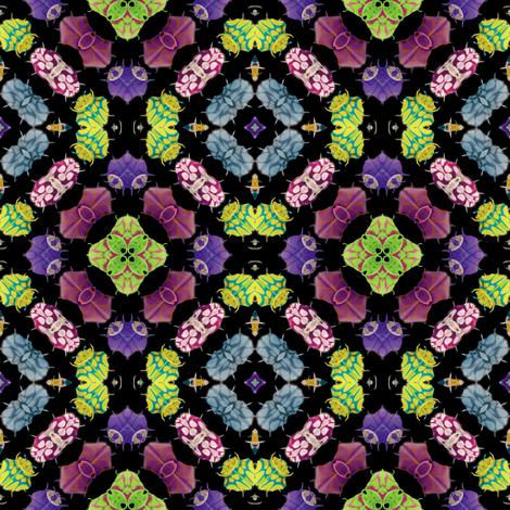 Kaleidoscope Bugs 3 fabric by animotaxis on Spoonflower - custom fabric