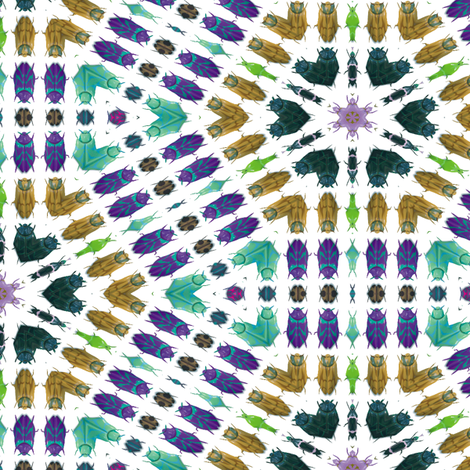 Kaleidoscope Bugs 5 fabric by animotaxis on Spoonflower - custom fabric