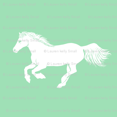 White Pony in Mint, Larger