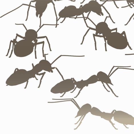 Mocha Ants fabric by animotaxis on Spoonflower - custom fabric