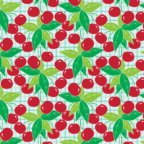 Red Cherries fabric by jjtrends on Spoonflower - custom fabric