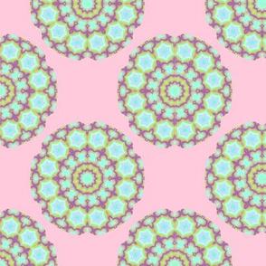 Light Blue Star Wheels on pink