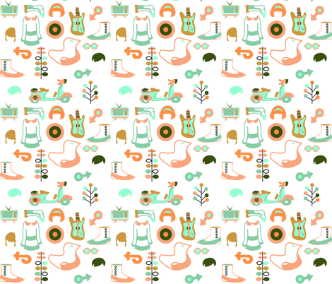 Mod Squad fabric by trizzuto on Spoonflower - custom fabric