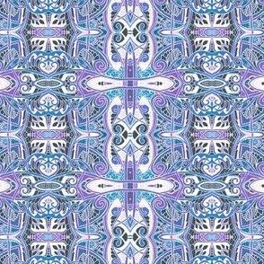 Doily Web Kaleidoscope Stripes
