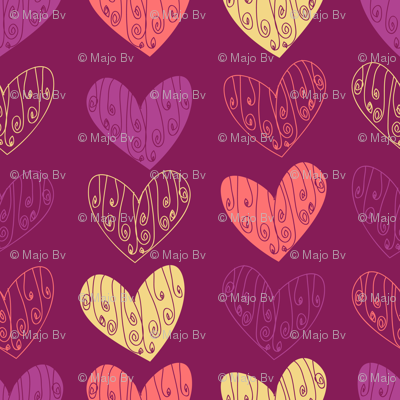 Doodled Hearts