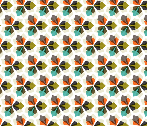 kaleidoscopic: tilted fabric by nadiahassan on Spoonflower - custom fabric