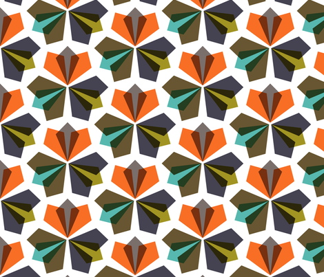 kaleidoscopic: vertical  fabric by nadiahassan on Spoonflower - custom fabric