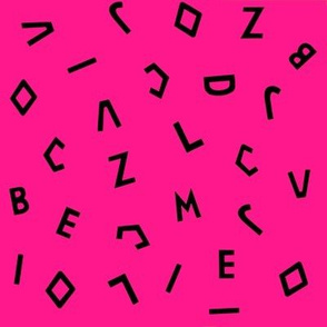 Roxy's disorderly letters print: PINK