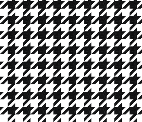 houndstooth black and white textured fabric by katarina on Spoonflower - custom fabric