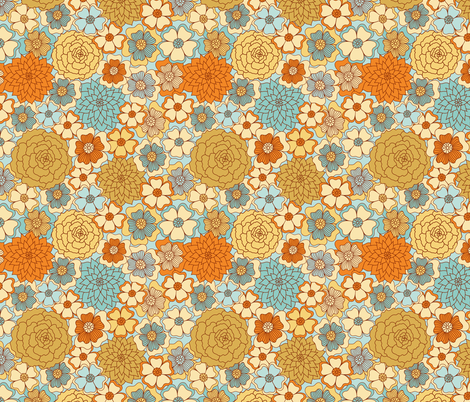 Flowers fabric by forget_me_not on Spoonflower - custom fabric