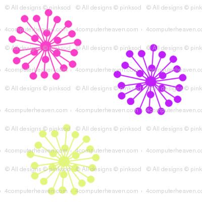 Retro Flowers - Summer's Call - © PinkSodaPop 4ComputerHeaven.com