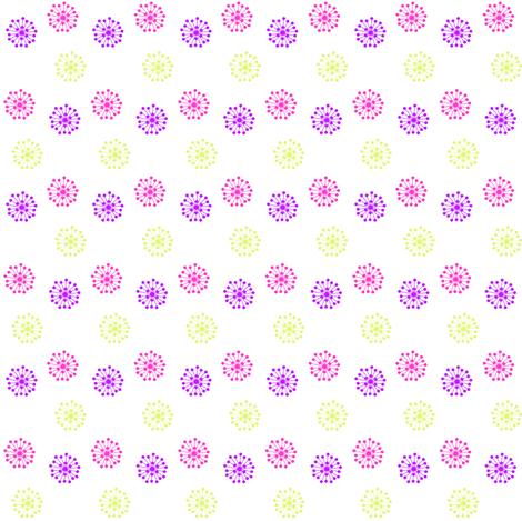 Retro Flowers - Summer's Call - © PinkSodaPop 4ComputerHeaven.com fabric by pinksodapop on Spoonflower - custom fabric