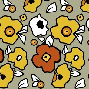 Mod Flowers (orange)