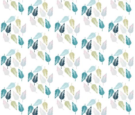 Leave Me Multi Seaside fabric by beththompsonart on Spoonflower - custom fabric