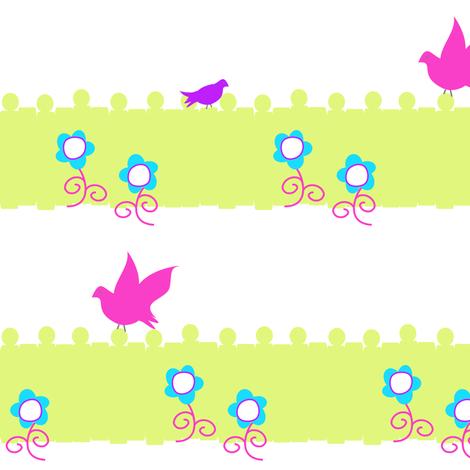 Garden Loiterers - Summer's Call - © PinkSodaPop 4ComputerHeaven.com fabric by pinksodapop on Spoonflower - custom fabric