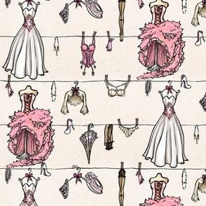 Old school pink wedding