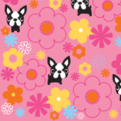 Mod Boston Terriers - Pink