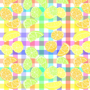 RAINBOW GINGHAM CITRUS PUNCH