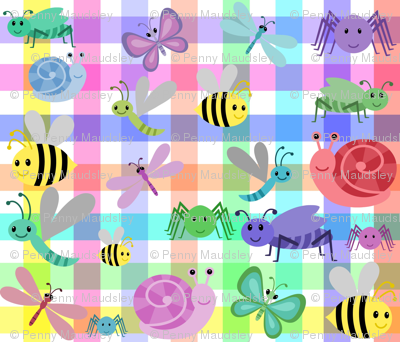 RAINBOW GINGHAM CRITTERS