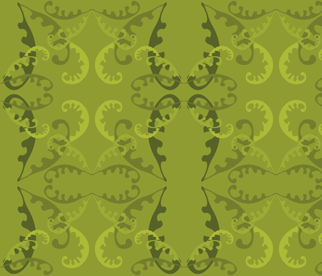 Fern Lattice on Green fabric by linda_santell on Spoonflower - custom fabric