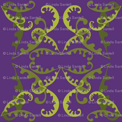 Fern Lattice on Purple