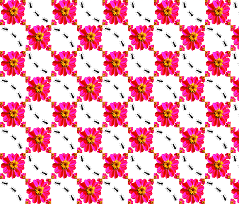 flower_ant_plaid fabric by gailadesigns on Spoonflower - custom fabric