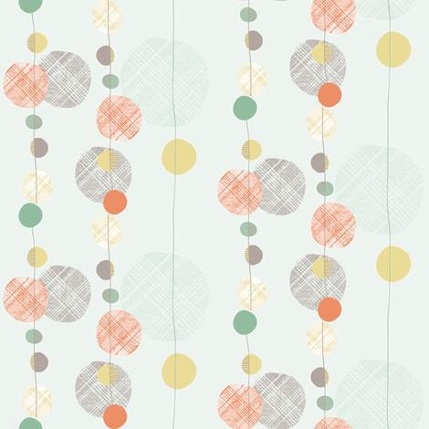 cascading dots fabric by verysarie on Spoonflower - custom fabric