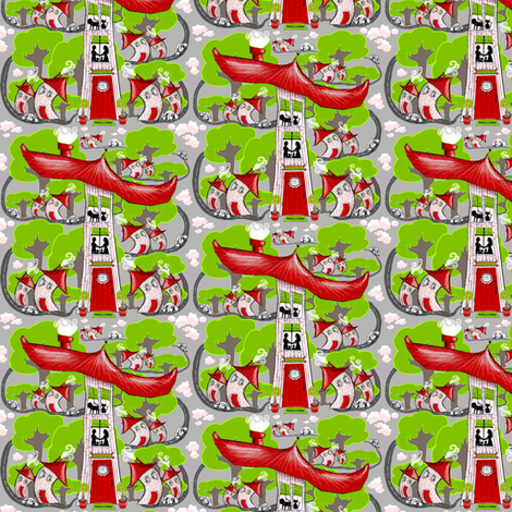 Home Sweet Home (Small Scale) fabric by amy_g on Spoonflower - custom fabric