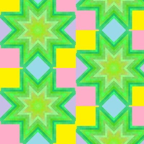 Patchwork Color Star